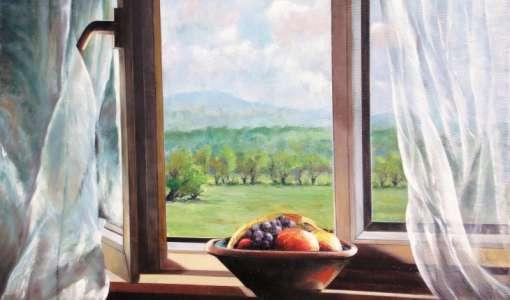 Realistische Landschaftsmalerei nach Foto