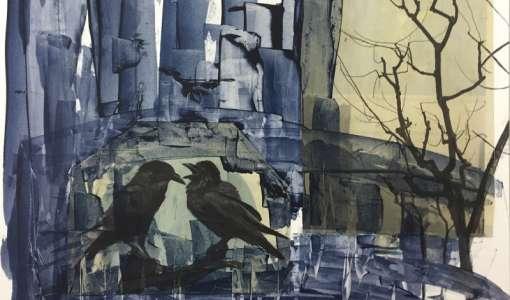 Acryl Collage - Struktur - Lasur