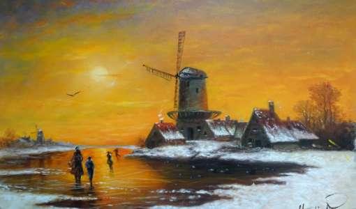 Die Magie der Ölmalerei - Romantische Winterlandschaft