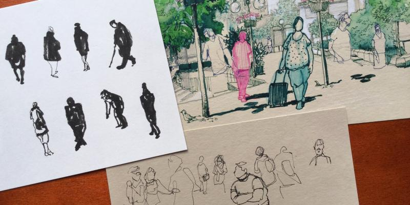 Urban Sketching - Menschen in ihrer Umgebung